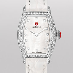 Urban Coquette Diamond, Diamond Dial White Alligator Watch