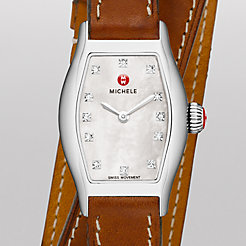 Urban Coquette, Diamond Dial Saddle Calf Skin Double Wrap Watch