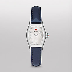 Urban Coquette, Diamond Dial Navy Patent Watch