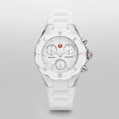 Michele Watches Tahitian Jelly Bean Large White Watch