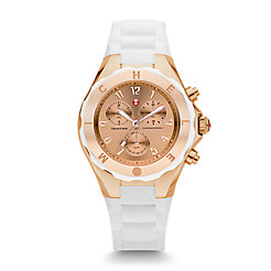 Tahitian Jelly Bean Large White Rose Gold Tone Dial Watch
