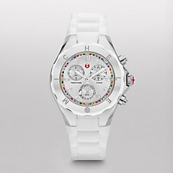 Tahitian Jelly Bean Topaz Carousel White, Silver Dial Watch