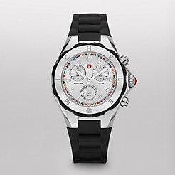 Tahitian Jelly Bean Topaz Carousel Black, Silver Dial Watch