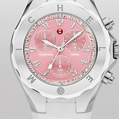 Tahitian Jelly Bean Topaz White, Pink Dial Watch