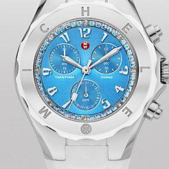Tahitian Jelly Bean Topaz White, Blue Dial Watch