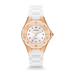 Tahitian Jelly Bean Petite Rose Gold White