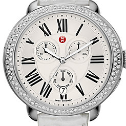 Serein Diamond, Silver Alligator Watch