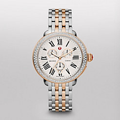 Serein Diamond Two Tone Rose Gold, Two Tone Bracelet Watch
