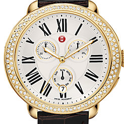 Serein Diamond Gold, Espresso Alligator Watch