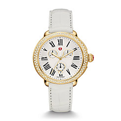 Serein Diamond Gold, White Alligator Watch