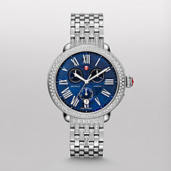 Serein Diamond Blue Dial on Diamond Taper Bracelet Watch