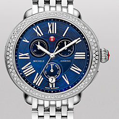 Serein Diamond Blue Dial Watch