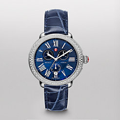 Serein Diamond Blue Dial Navy Alligator Watch