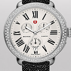 Serein Diamond Black Crystal Watch