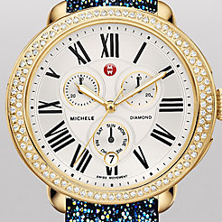 Serein Diamond Gold Blue Nights Crystal Watch