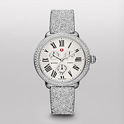 Serein Diamond Silver Crystal Watch