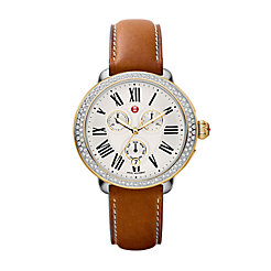 Serein Diamond Two Tone Saddle Calfskin Watch