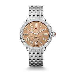Serein Diamond, Metallic Rose Gold Dial Watch
