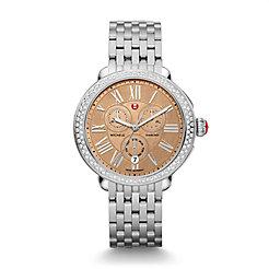 Serein Diamond, Metallic Rose Gold Dial Watch