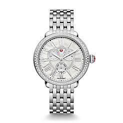 Serein Diamond Chronograph, Mop Diamond Dial Watch