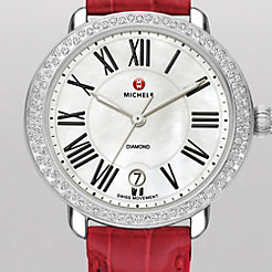 Serein 16 Diamond Garnet Alligator Watch