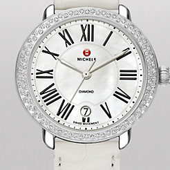 Serein 16 Diamond White Alligator Watch