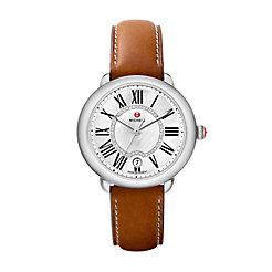 Serein Mid, Diamond Dial Saddle Calfskin Watch