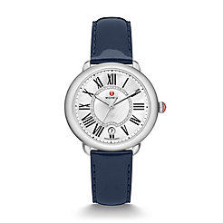 Serein Mid, Diamond Dial Navy Patent Watch