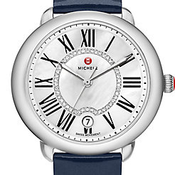 Serein 16, Diamond Dial Navy Patent Watch