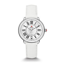 Serein Mid, Diamond Dial White Patent Watch