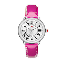 Serein 16, Diamond Dial Pink Patent Watch