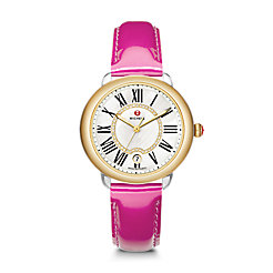 Serein 16 Two-Tone, Diamond Dial Pink Patent Watch