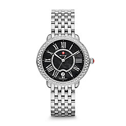 Serein 16 Diamond, Black Diamond Dial Watch