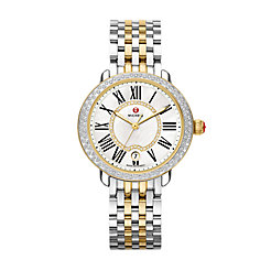 Serein Mid Two-Tone Diamond, Diamond Dial Watch