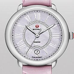 Serein 16, Lavender Diamond Dial Pastel Purple Alligator Watch