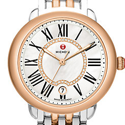 Serein Mid Two-Tone Rose Gold, Diamond Dial Watch