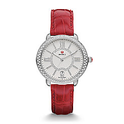 Serein 16 Soiree Diamond, Diamond Dial Garnet Alligator Watch