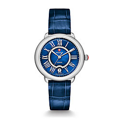 Serein 16, Blue Diamond Dial Blue Thin Alligator  Watch