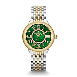 Serein 16 Two-Tone, Green Diamond Dial Watch