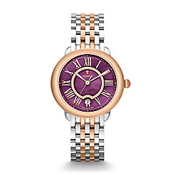 Serein 16 Two-Tone Rose Gold, Purple Diamond Dial Watch
