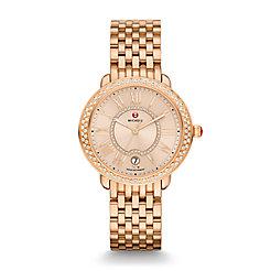 Serein 16 Diamond Rose Gold, Beige Diamond Dial Watch