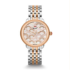 Serein 16 Mosaic Two-Tone Rose Gold, Beige Diamond Dial Watch