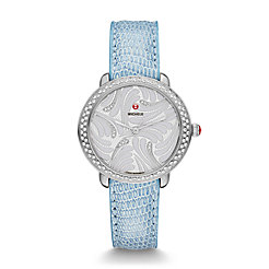 Serein 16 Swan Diamond, Diamond Dial Blue Lizard Watch