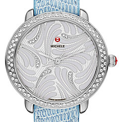 Serein 16 Swan Diamond, Diamond Dial Blue Lizard Watch