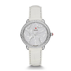 Serein 16 Swan Diamond, Diamond Dial White Alligator Watch
