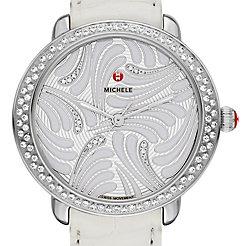 Serein 16 Swan Diamond, Diamond Dial White Alligator Watch