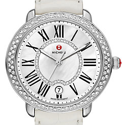 Serein 16 Diamond, Diamond Dial White Alligator Watch