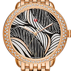 Serein Mid Diamond Rose Gold, Willow Diamond Dial Watch
