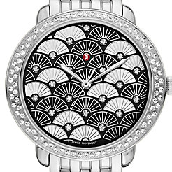Serein 16 Diamond, Black Fan Diamond Dial Watch
