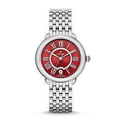 Serein Mid, Red Diamond Dial Watch